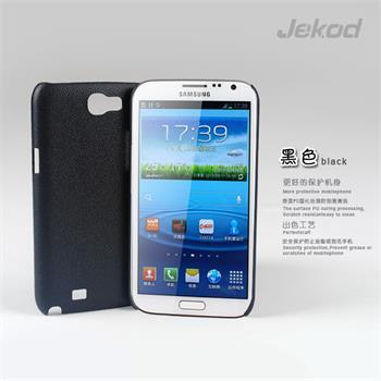 JEKOD Shield Kožený Zadní Kryt Black pro Samsung N7100 Galaxy Note2