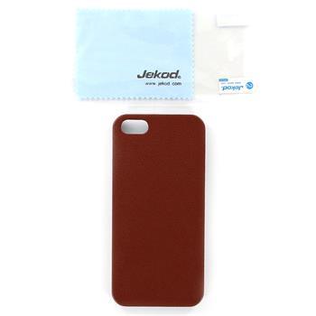JEKOD Shield Kožený Zadní Kryt Brown pro iPhone 5/5S