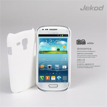 JEKOD Shield Kožený Zadní Kryt White pro Samsung i8190 Galaxy S3mini