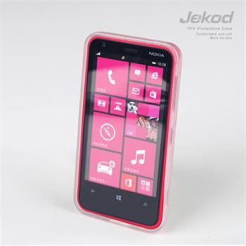 JEKOD TPU Ochranné Pouzdro Biele pro Nokia Lumia 620