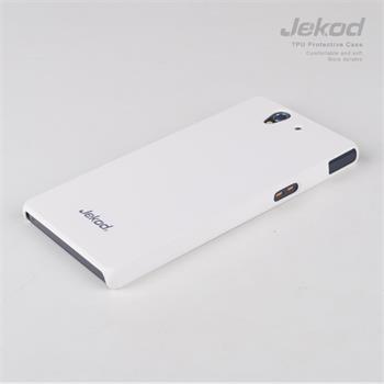 JEKOD TPU Ochranné Pouzdro Biele pro Sony C6603 Xperia Z