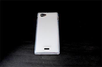 JEKOD TPU Ochranné Pouzdro Biele pro Sony Xperia J ST26i
