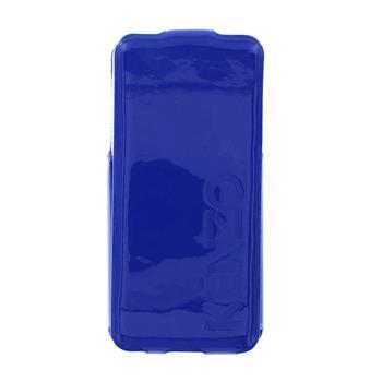 KENZO Kožené Flip Pouzdro Glossy Embossed Blue pro iPhone 5/5S