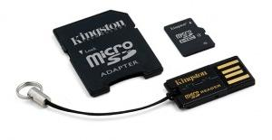Kingston micro SDHC 4 GB class 4 + Adaptér (MBLY4G2/4GB)