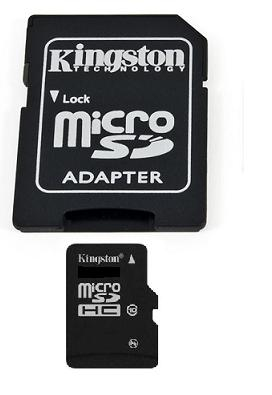 Kingston micro SDHC 8 GB Class 10 + adaptér (SDC10/8GB)