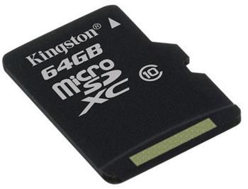 Kingston microSDXC 64 GB Class 10 Flash Card (SDCX10/64GB)