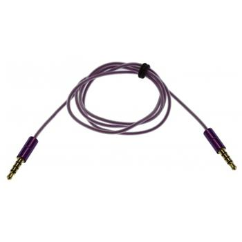 KitSound 3,5mm - 3,5mm AUX Kabel Purple Slim (EU Blister)
