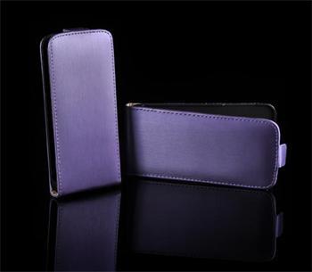Kožené knižkové púzdro NEO slim iPhone 4/4S Fialová