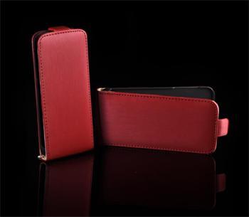 Kožené knižkové púzdro NEO slim iPhone 5/5S/SE Červená
