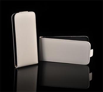 Kožené knižkové púzdro NEO slim Samsung Galaxy mini2 S6500 Biele