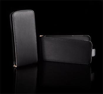 Kožené knižkové púzdro NEO slim Samsung S5360 Galaxy Y Čierna