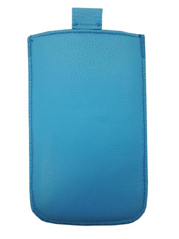 Kožené púzdro veľkosť 01 modré s pásikom pre Noka 6300, Nokia 6303, Nokia 5310, Motorola WX395, Samsung 1202, Samsung E1050