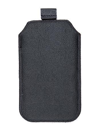 Kožené púzdro veľkosť 03 čierne s pásikom pre Nokia 101, Nokia 2220, LG A100, Samsung E1202, Samsung E1050, Samsung E1190, Nokia 6