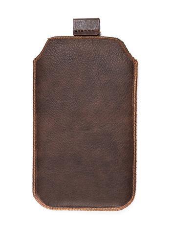 Kožené púzdro veľkosť 03 hnedé s pásikom pre Nokia 101, Nokia 2220, LG A100, Samsung E1202, Samsung E1050, Samsung E1190, Nokia 61