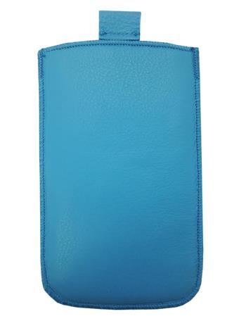 Kožené púzdro veľkosť 13 modré s pásikom pre Sam. S5380D, Sam. B5330, Sam. i8350, Sam. S8160, Sam. S5830, Motorola Motoluxe, LG E