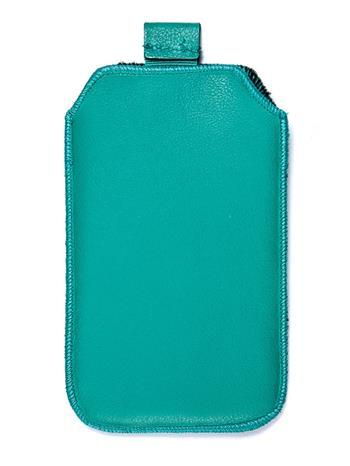 Kožené púzdro veľkosť 19 zelené s pásikom pre Sam. E2652W, Sam. S 5300, Sam. S 5220, Sam. S 5360, Nokia C2-02, Nokia C2-06, Motoro