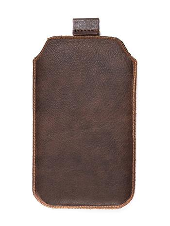 Kožené púzdro veľkosť 23 hnedé s pásikom pre SE ST15i, SE Xperia X10 mini pro