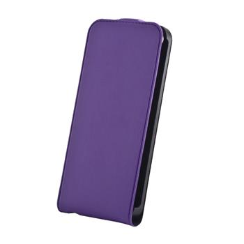 Koženkové knižkové púzdro SLIGO Premium Flip Apple iPhone 5/5S/SE Fialové