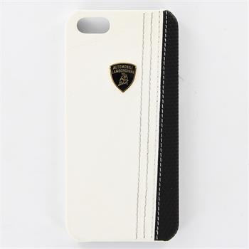 Lamborghini Superleggera D1 Kožený Zadní Kryt White pro iPhone 5/5S