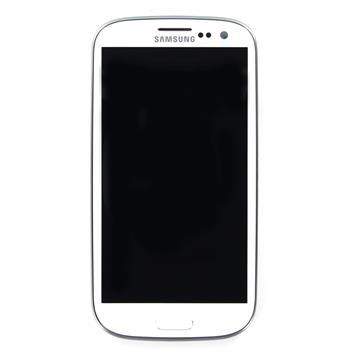 LCD display, Dotyk plus Přední kryt Samsung i9305 Galaxy S3 LTE Onyx White