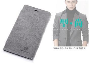 Nillkin Tree Texture Flip Kožené Pouzdro Grey pro Nokia Lumia 920