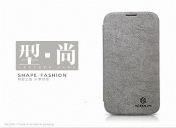 Nillkin Tree Texture Flip Kožené Pouzdro Grey pro Samsung N7100 Note2