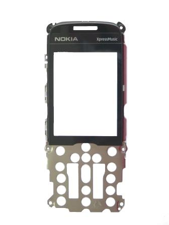 Nokia 5130x Silver kryt klávesnice + sklíčko