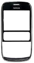 Nokia Asha 302 Dark Grey Přední Kryt