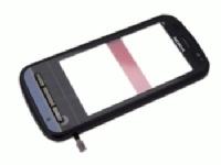 Nokia C6 Black Přední Kryt vč. Dotyku OEM