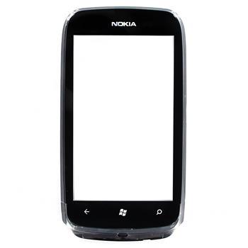 Nokia Lumia 610 Black Přední Kryt vč. Dotyku