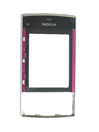 Nokia X3 Black-Pink Přední Kryt
