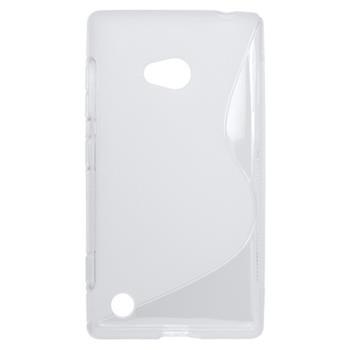 Puzdro gumené Nokia Lumia 720 transparentné