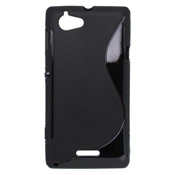 Puzdro gumené Sony Xperia L- C2105, čierne