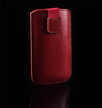 Púzdro SNAKE, Červená, HTC HD2/Sensation/ONE V/ Sam i9000/i9100/S8530/S8600/i9070/S7530