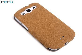 ROCK Eternal Kožené Flip Pouzdro pro Samsung S3 (i9300/S3 i9301 Neo) Light Brown
