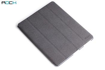 ROCK Eternal Kožené Pouzdro Polohovací Grey pro iPad 2,3,4