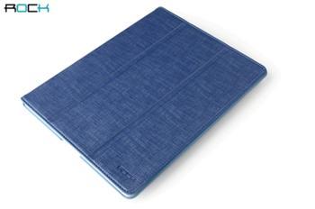 ROCK Flexi Kožené Pouzdro Blue pro iPad, iPad2, New iPad