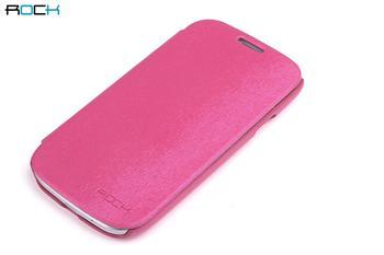 ROCK Flip Kožené Pouzdro pro Samsung Galaxy S3 (i9300/S3 i9301 Neo) Rose Red