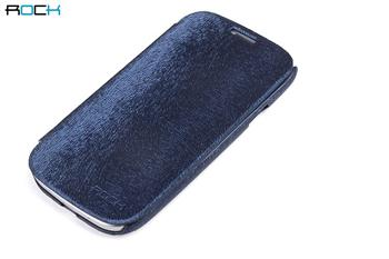 ROCK Flip Kožené Pouzdro pro Samsung N7100 Galaxy Note2 Tmavo Modré