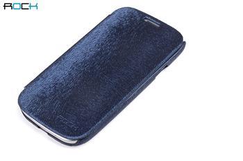 ROCK Flip Kožené Pouzdro pro Samsung S7562 Galaxy S Duos Dark Blue