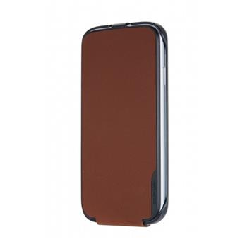 SAMS4CFBN Made by Samsung Kožené Flip Pouzdro Brown pro S4 i9505 (EU Blister)