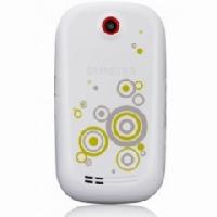 Samsung S3650corby kryt baterie White kruhy