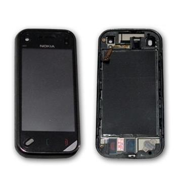 Sklíčko + dotyková plocha Nokia N97 mini + rámik Black