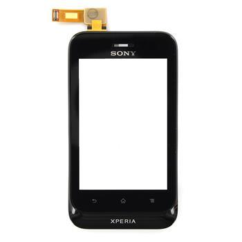 Sony ST21i Xperia Tipo Přední Kryt + Dotyková Deska Black