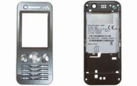 SonyEricsson W890i kryt Silver SWAP, přední, střední, klávesnice