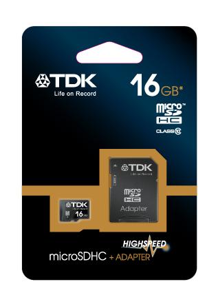 TDK microSDHC 16 GB Travelcard Class 10 + adaptér (t78727)