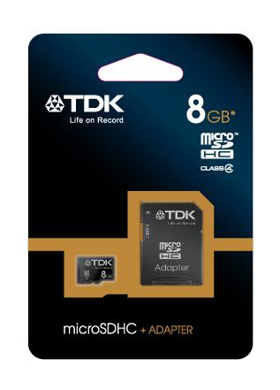 TDK microSDHC 8 GB Travelcard Class 4 + adaptér (t78537)
