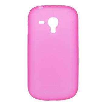Tvrdé puzdro Samsung i8190 Galaxy S III Mini, S3 mini i8200 VE ružová transparentná
