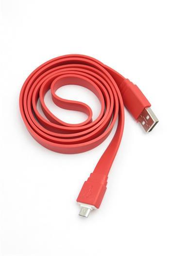 Universal Belt microUSB Datový Kabel Red (Bulk)
