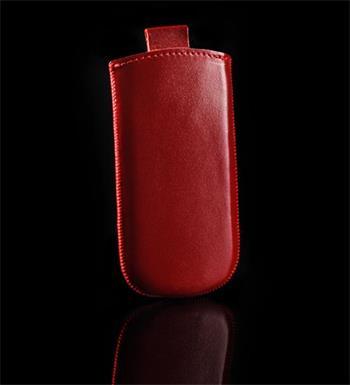Vsuvka Pravá Koža Future HTC Desire C Červená